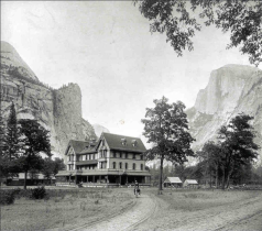 The Stoneman Hotel before it burned in 1896 - Yosemite Valley
