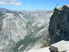 View of Tenaya Canyon from the top Half Dome